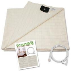 Grounding Brand Half Sheet with Earthing Connection Cable White Tan or Grey $53.77