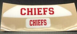 Kansas City Chiefs Full Size Football Helmet Decals Front And Rear BUMPERS