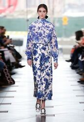 Tory Burch Lili Blouse NWT Shirt XS Rosemont Floral RUNWAY 2017 Garden Party 0