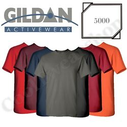 NEW Gildan Men's Heavy Cotton Plain Crew Neck Short Sleeves T-Shirt 5000 S~2XL $5.99