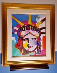 Peter Max Delta - Liberty - Original Mixed Media with Acrylic Signed in Acrylic