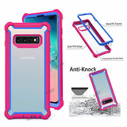 For Samsung Galaxy S8 S9 S10 Plus 360 Shockproof Hybrid Bumper Armor Case Cover