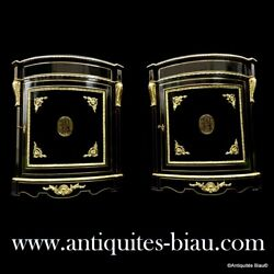 Pair Furniture of corners with brass inlay firt 19th  before Napoleon III period