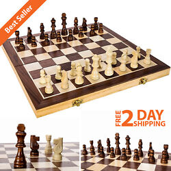 Wooden Chess Game Set Large 15