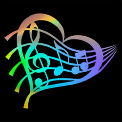 Heart Musical Note Love Decal Car Window Door Wall Stickers Decor Removable $2.46