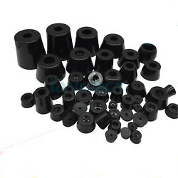4pcs Black Rubber Machine Foot Pad With Washer Non slip Furniture Table Conical $2.85