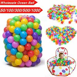 Wholesale 50~1000X 5.5cm Baby Kid Pit Toy Game Swim Pool Soft Plastic Ocean Ball