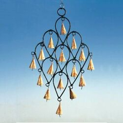 Drop Pattern Iron Wind Chime with Rustic Bells