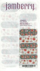 Jamberry Nail Wraps Full Sheets FREE SHIPPING Red Floral She's Lovely
