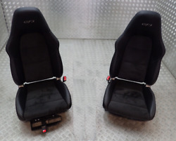 GENUINE _ PORSCHE CARRERA 991 GT3  __ 4 WAY _  LEATHER ALCANTARA SEATS GT3RS GTS