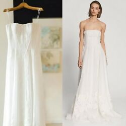 $10000 Ralph Lauren Collection Runway Lace Embroidered Wedding Dress Silk Gown
