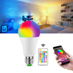 E27 LED Bulb RGB RGBW Light Color Change Lamp Bulbs Dimmable Remote Controller $5.99