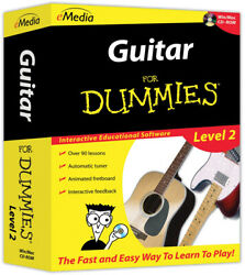 Guitar For Dummies Level 2 CD-ROM Yellow Instructional Step by step Lessons
