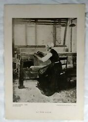 Walter Gay Antique At The Loom Art Print 5.5quot; x 8quot; Perry Pictures Weaving $4.00