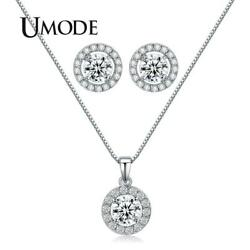 UMODE Jewelry Set for Women Handcraft Small Cute CZ Stud Earrings and Chain P…