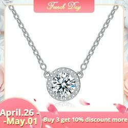 UMODE Trendy Top Round Cubic Zirconia Pendant Necklaces for Women White Gold …