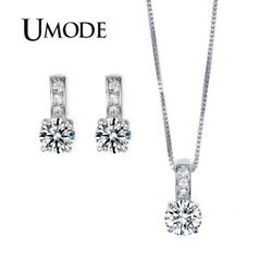 UMODE Girls Jewelry Set with 1 Pair of Small Size CZ Stud Earrings