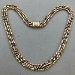 AUTHENTIC FOPE FANCY NECKLACE 18K GOLD HEAVY 50.4 GR APPR. RET USD $5800+TAX
