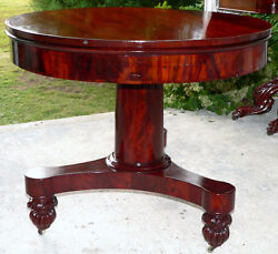 Center table foyer Classical Empire mahogany rosewood 35