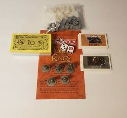 2003 Lord of the Rings Trilogy Edition  Monopoly  Replacement Parts you Choose