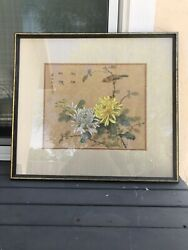 Chinese ancient painting. Flowers and birds