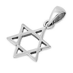 Star of David Pendant Charm Solid Sterling Silver 925 Product Height 16 mm $11.19