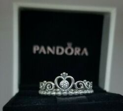 925 Silver My Princess Ring  New Sizes  56 789  #196226CZ pouch or a Box