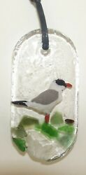 Beautiful Handcrafted resin Jewellery Pendant with  Birds and Dried Flowers