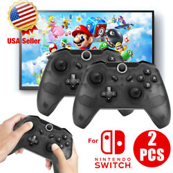 Wireless Pro Controller Remote Gamepad for Nintendo Switch Console Black  Blue