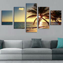 FA- EP_ 5Pcs Seascape Wall Art Painting Pictures Living Room Home Decor Unframed