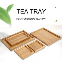 Square Wood Serving Tray Food Tea Table Bamboo Tray Coffee Plate Breakfast Snack