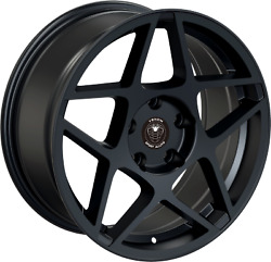 SET OF 4 NEW VENOM WHEELS 62 17X8 5X112 +35 MATTE BLACK