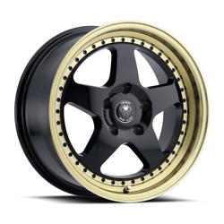SET OF 4 NEW VENOM WHEELS 11 17X8 5X120 +30 BLACK BRONZE LIP