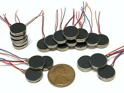 20 Pieces Vibration coin Vibrating motor 12mm small brushless 1400rpm micro B14 $13.50