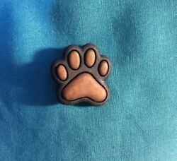 Cute Puppy DOG Black n Brown PAW PRINTS Animal Croc Compatible Holey Shoe Charms $2.99
