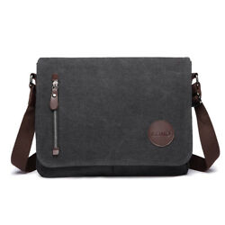 40% Offer Men Canvas School Cross Body Shoulder Work Bag Messenger Bag Satchel