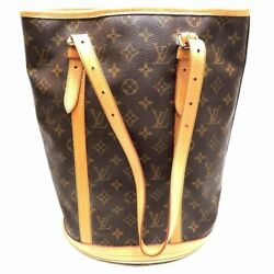 Louis Vuitton Monogram Bucket Women's Shoulder Bag Monogram