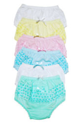 4 Girls Ruffle Panties Kids Toddler Underwear Cotton Solid Color Size 12 3 4 5 6 $8.99
