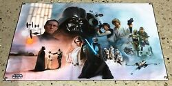 STAR Wars figures movie banner thick canvas poster Leia Vader death star R2D2 $35.71