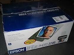 Epson Stylus Photo 2200 Wide-Format USB Inkjet Printer Complete in box!