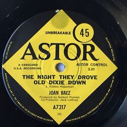 Joan Baez - The Night They Drove Old Dixie Down - OZ 1971 Astor 7