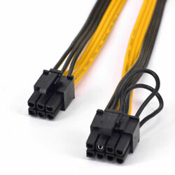 5pcs PCIe 6pin Male to 8pin 62 Male Graphics Card Power Cable GPU Cable $13.05
