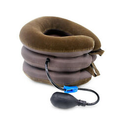 Neck Support Cervical Collar Relief Traction Brace Stretcher Inflatable Comfort $7.49