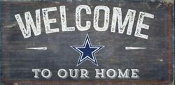 Dallas Cowboys Welcome to Our Home Wood Sign 12