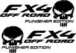 FX4 Off Road PUNISHER EDITION Decals Ford Truck Vinyl Stickers Set $11.50