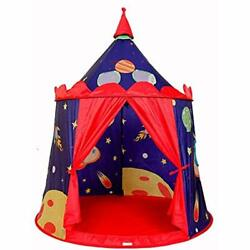 Castle Play Tent Indoor&ampOutdoor Kids Playhouse With Carrying Bag (Space Toys