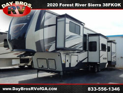20 Forest River Sierra 38FKOK RV Camper Towable 5th Wheel 6 Slides Sleeps 6