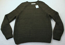 Vince Mens Black Wool Blend Heavy Knit Crew Neck Sweater  NWT  M  $385