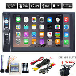 1x 7inch 2DIN Car MP5 Player Bluetooth Touch Screen Stereo Radio HD+Rear Camera $41.98