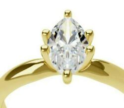 ENGAGEMENT 3.00 CT H SI1 MARQUISE SHAPE DIAMOND 14 K YELLOW GOLD RING LADY